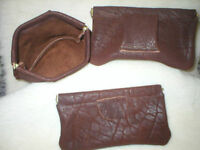 LEATHER BELT PELLET AMMO POUCH WALLET METAL FRAME 8x4 made in USA black/brown