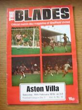 14/02/1976 Sheffield United v Aston Villa  (Creased, Worn, Team Changes)