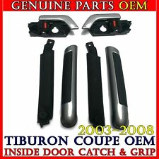 Silver Inside Door Handle Catch & Inner Grip Full SET Hyundai 2003-2008 Tiburon