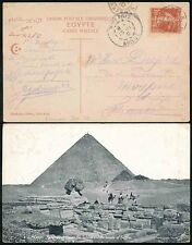 EGYPT 1910 FRENCH PAQUEBOT PPC SPHINX + PYRAMID...EPHTIMIOS CARD