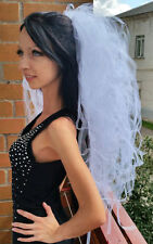 Bachelorette party Veil white Lush and luxury Hen party veil  European seller