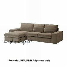 IKEA COVER for IKEA KIVIK Loveseat with Chaise Corduroy Tranås Light Brown NEW
