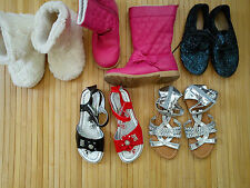 Huge spring/summer/winter 5x bundle girls shoes sandals boots size 13 SIZE 1
