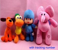 NEW Set Of 4pcs Pocoyo Elly Pato Loula Plush Stuffed Figure Toy Doll Kids Gift