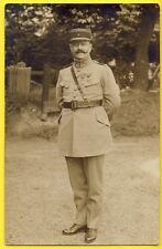 cpa Carte Photo CAPITAINE du 4e Régiment Croix de guerre Légion d'honneur