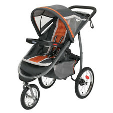 Graco FastAction Fold Jogger Click Connect STROLLER, BABY JOGGER, Tangerine