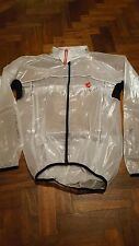 Castelli Transparent Rain Jacket Size Extra Large (XL)