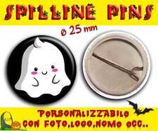 Spilla Spillina Pins 25 mm Collezione Halloween mini squishable ghost fantasmino