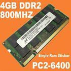 1x 4GB DDR2 PC2-6400s 800MHz SODIMM Memory Ram for PC Laptop Computer