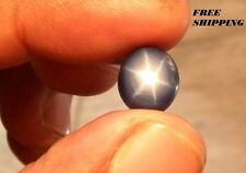 5 ct+ Solid 6 Rays Royal Blue Star Sapphire Oval Cabochon Star Stone 12*9 MM