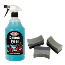 Carplan Demon Tyres Wet Look Tire Shine Dressing Cleaner + 3 Applicator Pads