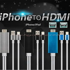 8 Pin H-Speed Connecter to HDMI TV USB Cable Adapter For iPad 4 iPhone 6 6s 5s