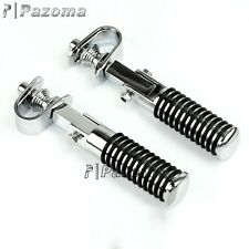 "Chrome Clamp On Highway Bar Peg Footpegs Pegs Harley 7/8"" to 1"" Bars O-Ring Peg"