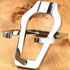 Classic Silver Stainless Steel Tobacco Smoking Pipe Folding Stand Holder Rack