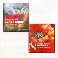Ann Blockley Collection Experimental Flowers & Landscapes in Watercolour 2 Books