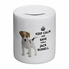 Keep Calm And Save For A Jack Russell Novelty Ceramic Money Box
