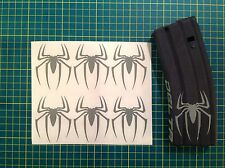 AR  Magazine SPIDER Sticker 6 Pack, Spiderman, AR, AK, GREY!