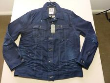 125 MENS NWT G-STAR RAW SLIM TAYLOR DK BLUE FADE DENIM JACKET XXL $210.