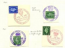 POLAND WW2 FPO 1941-42 STATE EAGLE POSTMARKS 1st CORPS...2 TYPES + 2 COLOURS