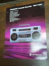 Hitachi Brochure~TRK-7720H Cassette Tape Recorder~Catalog Insert~Specifications