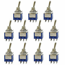 10 pcs 6 Pin DPDT ON-OFF-ON 3 Position 6A 250VAC Mini Toggle Switches US Stock