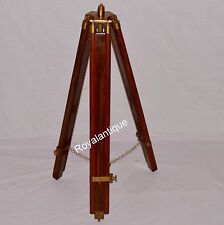 ANTIQUE-REPRODUCTION-NAUTICAL-TRIPOD-FLOOR-LAMP-BROWN-STAND
