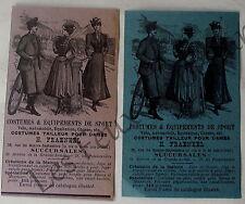 Publicité ancienne Costumes , vetements sport chasse, velo,Fraenkel   1899
