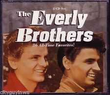 EVERLY BROTHERS 36 All Time Favorites 1994 Oop 3 CD Set 50s & 60s Oldies Rock