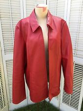 MISSES SIZE LARGE THE DIALOGUE RED LEATHER JACKET
