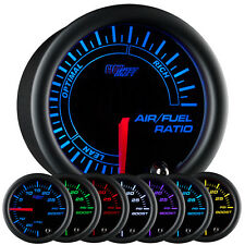 "52mm 2 1/16"" GLOWSHIFT BLACK 7 COLOR LED AIR/FUEL AFR RATIO GAUGE METER"