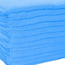 12 BLUE MICROFIBER TOWELS NEW CLEANING CLOTHS BULK 16X16 MANUFACTURERS SALE
