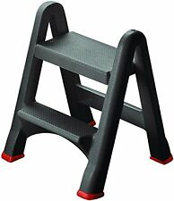 Curver two step stool easy use foldable, home, kitchen, garden - mini ladder