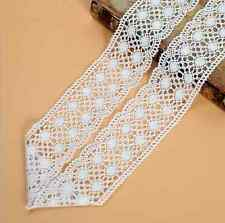 2yards Vintage Cotton Knitted Lace Trim Wedding dress clothing accesories 7.4cm