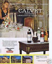 Publicité Advertising 056 1965 Calvet l élégance de votre table vin