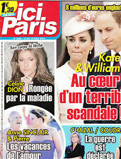 ICI PARIS. AOUT 2014 . CELINE DION  HUGUES AUFRAY  JOSEPHINE BAKER  COUDRAY