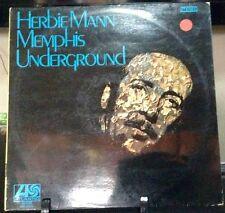 HERBIE MANN Memphis Underground Released 1969 Vinyl/Record Album US pressed