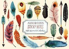 Arrows and Feathers Sticky Notes by Galison Publishing Staff and Margaret...