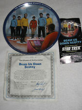 Beam us Down Scotty 1983 Star Trek Collector's PLATE Hamiliton COA RARE