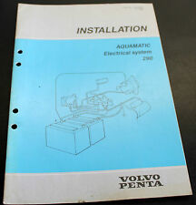 Volvo Penta Aquamatic Electrical System Installation Manual 7732706-2