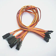 10 x 30cm 60 Cores Servo Extension Extend Lead 22awg wire cable For Futaba JR