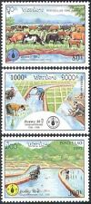 Laos 1995 FAO/Food/Oxen/Cows/Cattle/Rice/Farming/Agriculture/Animals 3v (n42817)