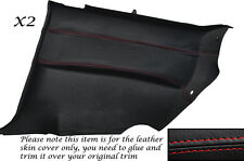 RED STITCH 2X REAR DOOR CARDS LEATHER COVERS  FITS NISSAN S14 200SX 94-99