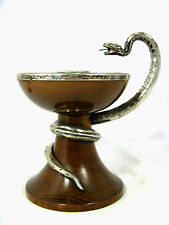 Art Deco Design silver snake handle candleholder / Kerzenhalter Silberschlange