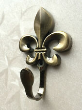 Towel Hook Wall Hooks Coat Hangers Bathroom Hooks Fleur De Lis Antique Bronze