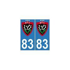 83 RCT toulon rugby trois 3 étoiles autocollant plaque europe droits