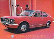 Toyota Corolla Coupe 1200 SL 1970-71 UK Market Leaflet Sales Brochure KE20