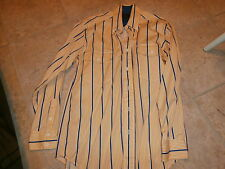 Roper Mens YELLOW-WHITE-BLUE SZ SMALL Western Rodeo Show Dress Shirt