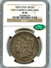 "C3855- 1899-O VAM-5 ""MICRO O"" TOP 100 MORGAN DOLLAR NGC VF35 CAC"