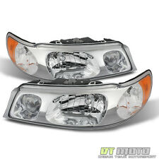 Fits 1998-2002 Lincoln Town Car Replacement Headlights Headlamps Pair Left+Right