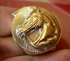 Solid sterling silver hallmarked HORSE HEAD PILL BOX